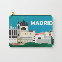 Madrid, Spain - Skyline Illustration by Loose Petals Carry-All Pouch