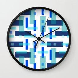 Blue Block City Wall Clock