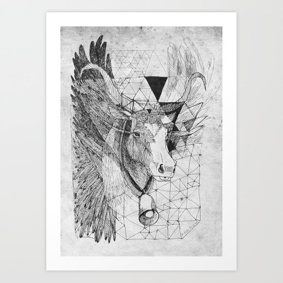 HOLY_COW Art Print
