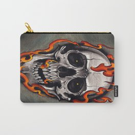 Skull in Flames Carry-All Pouch