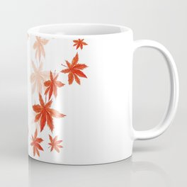 Falling red maple leaves watercolor painting Coffee Mug