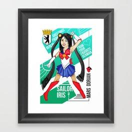Sailor Iris Framed Art Print
