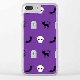 Halloween Pattern 2 Clear iPhone Case