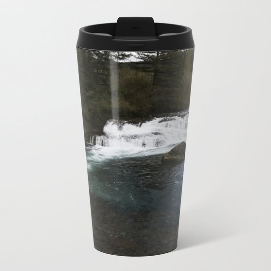 Washington Falls Metal Travel Mug