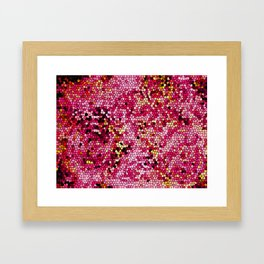 Batik Small Stained Glass Red Framed Art Print