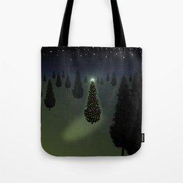 Christmas Tree Green Tote Bag