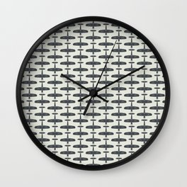 F4U Corsair - Sea Blue on Insignia White Wall Clock