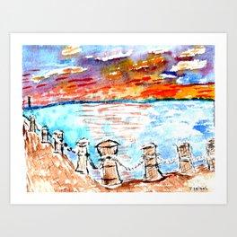 sunset art #4 Art Print