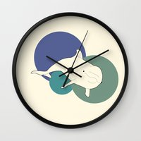 dolphin Wall Clocks featuring Dolphin by Rebekhaart