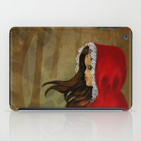 red riding hood iPad Cases featuring Red Riding Hood by Alannah Brid