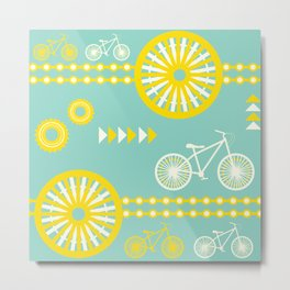 Saturday Bike Ride Metal Print