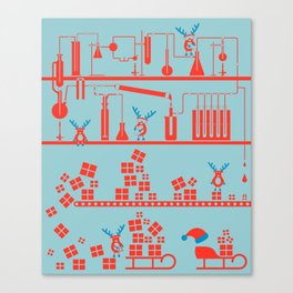 Reindeer Factory Canvas Print