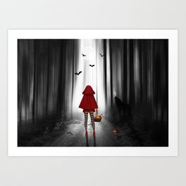 Little Red Riding Hood and the wolf Art Print