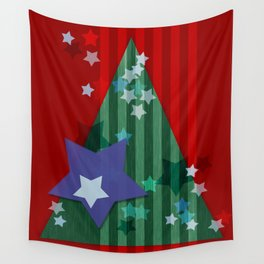 stars and stripes - christmas edition Wall Tapestry