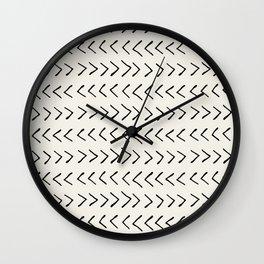 Arrows on Alabaster Wall Clock