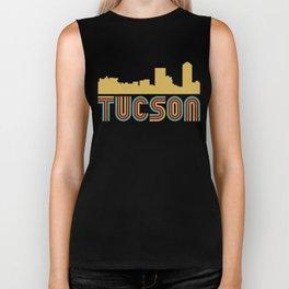 Vintage Style Tucson Arizona Skyline Biker Tank