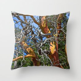 MADRONA TREE DEAD OR ALIVE Throw Pillow