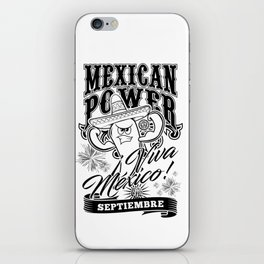 Mexican Power Black iPhone Skin