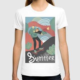 Summer skateboarding T-shirt