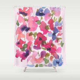 Monet's Rose Garden Shower Curtain