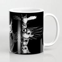 totem Mugs featuring Totem by Det Tidkun