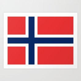 Norwegian Flag Art Print