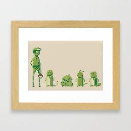 8-Bit Pokémon Framed Art Print