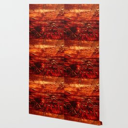 Rustic Textured Acrylic Painting on Wood Wallpaper