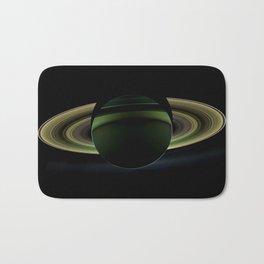 Glorious view of Saturn Bath Mat