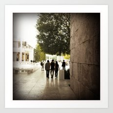 At the Getty... Closing Time Art Print