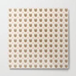 Yorkshire Terrier Pattern Metal Print