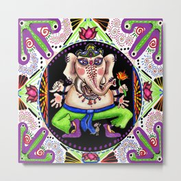 Ganesh Ganesha Mandala Metal Print
