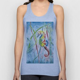 Colorful Seahorse Unisex Tank Top