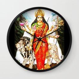 Hindu Durga 3 Wall Clock