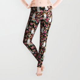 Beagle floral dog breed pattern pet gifts for beagle owners must have beagles Leggings