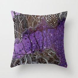 The crystal ship Throw Pillow