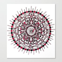 TOP Red and Black Mandala Canvas Print