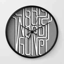 Lights Out, Words Gone Wall Clock