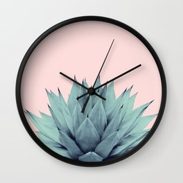 Agave Blush Summer Vibes #1 #tropical #decor #art #society6 Wall Clock