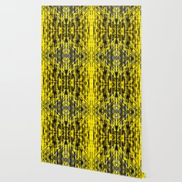 abstract composition in yellow and grays Wallpaper