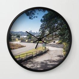 Campsite Driveway Wall Clock