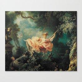 Jean Honore Fragonard The Swing Canvas Print
