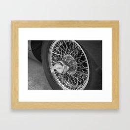 Jaguar E-Type wheel Framed Art Print