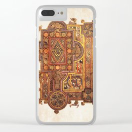 Book Of Kells Incipit To Luke Page Clear iPhone Case