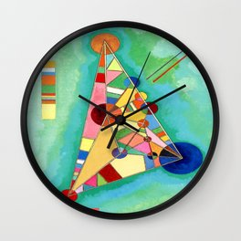 Wassily Kandinsky Multi Colored Triangle Wall Clock