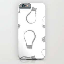Light Bulb Silver iPhone Case
