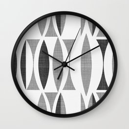 Seventies Black and White Wall Clock