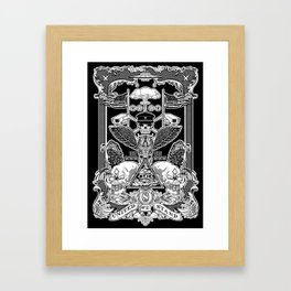 THE POLITICS OF GREED Framed Art Print