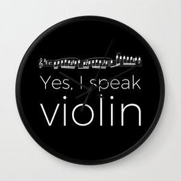 Speak violin? Wall Clock