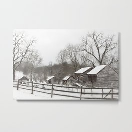 Winter at the Exchange Place Metal Print